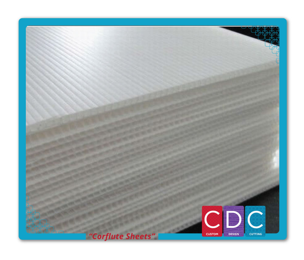 Corflute Sheet 3mm White Digital Printing Grade Cdc